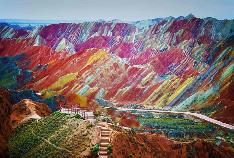 بازدید از کوه های رنگی چین