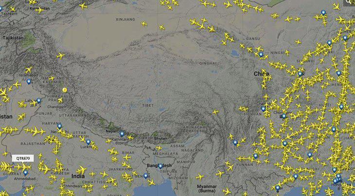 چرا هواپیماها از آسمان تبت عبور نمیکنند؟