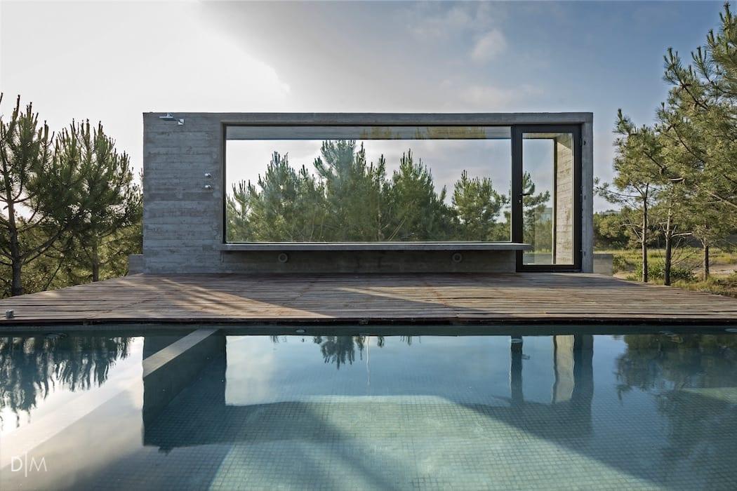 معماری خانه ای با استفاده از بتن اکسپوز