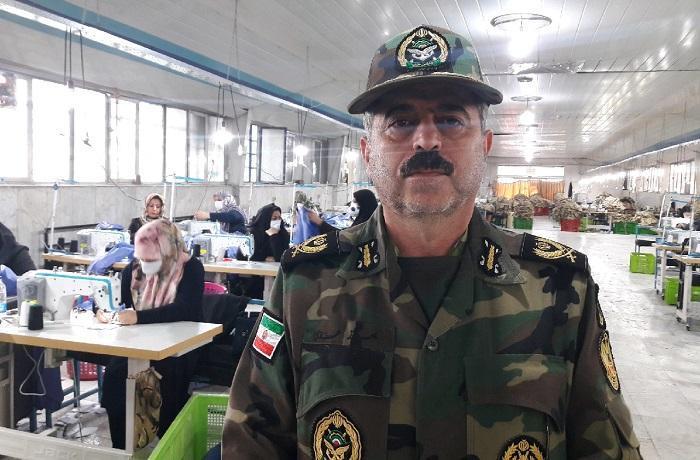 فراوری ماسک و گان حفاظتی در نیروی زمینی ارتش