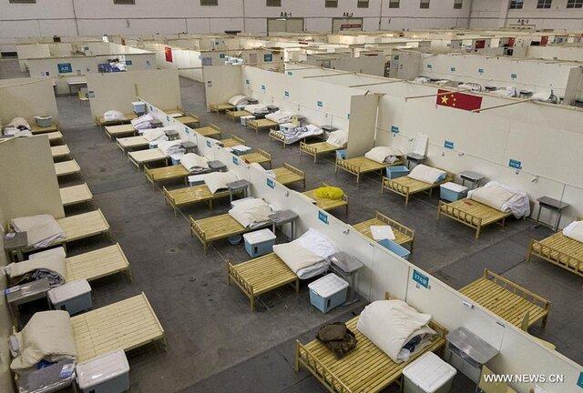 چین رسما بزرگترین بیمارستان موقت پذیرش مبتلایان به کرونا در ووهان را بست