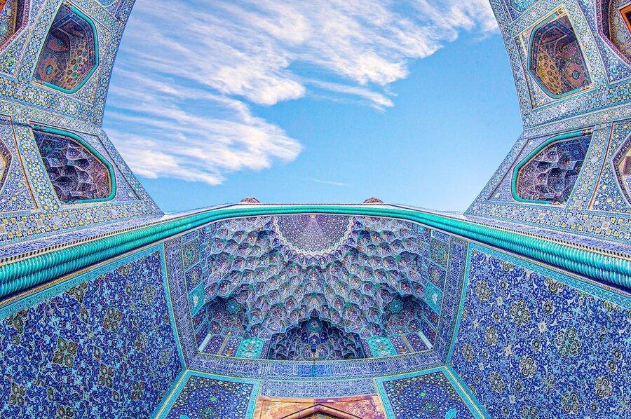 قاب های حیرت انگیز از معماری فضای داخلی مساجد تاریخی ایران