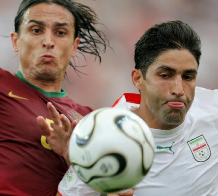 عکس ، خاطره بازی هاشمیان با پیراهن ستارگان فوتبال