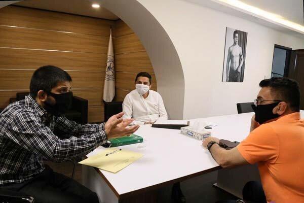 نشست محمد بنا با رئیس فدراسیون کشتی، بازگشت آقای خاص