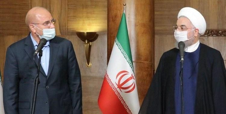 جدال ادامه&zwnjدار حسن روحانی و محمد باقر قالیباف