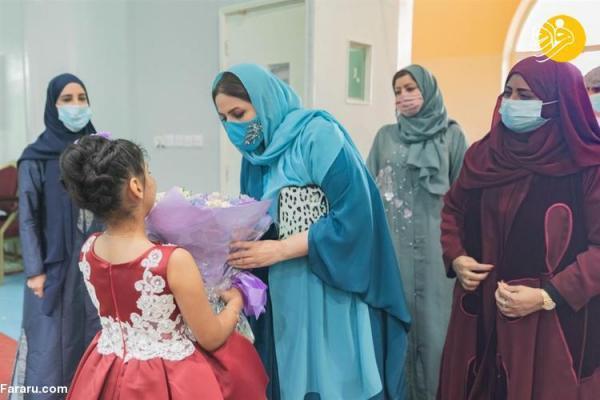 (تصاویر) ملاقات همسر سلطان عمان با ایتام