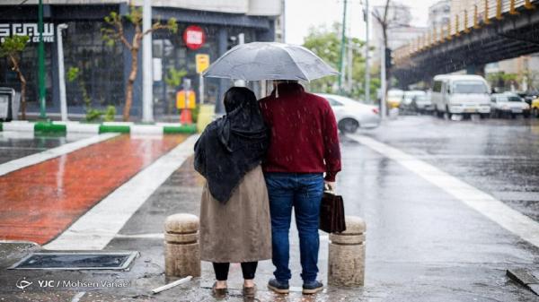 بارش باران تابستانی در مرکز